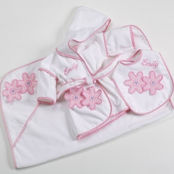 Daisy Design Baby Girl Robe Set