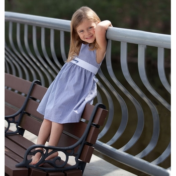 Dark Blue Gingham Dress (Can Be Personalized)