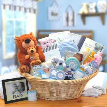Deluxe Newborn Boy Gift Basket