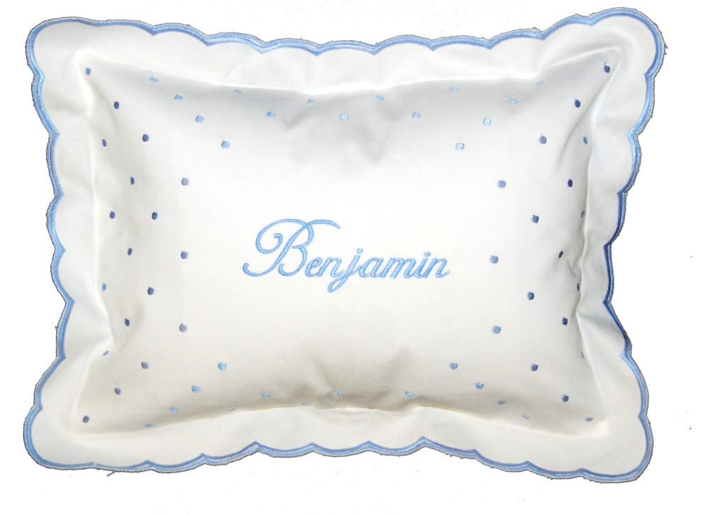 Embroidered baby boy pillow simplyuniquebabygifts free shipping negle Image collections