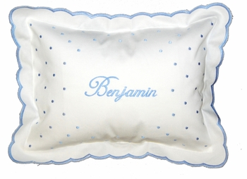 Embroidered Baby Boy Pillow