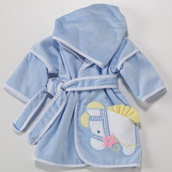 Embroidered Pony Hooded Bath Robe (Can be Personalized)