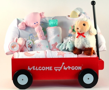 Extra Large Newborn Girl Gift Wagon