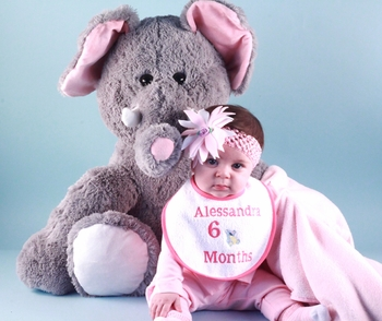 Extra Large Plush Elephant With Personalized Bib
