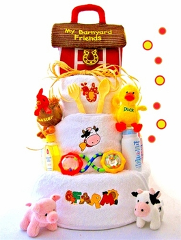 Farm Theme Diaper Cake