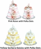 Floral Design Diaper Cakes (14 Different Colors & Designs)