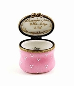 Girl's Personalized French Porcelain Heirloom Box