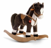 Heirloom Quality Hand Made Plush Rocking Horse (2 Colors)