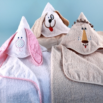 Hooded Animal Bath Towels (Personalization Available)