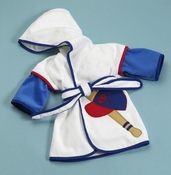 Hooded Boys Baseball Bath Robe (Can be personalized)