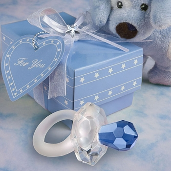 'It�s A Boy' Crystal Blue Pacifiers