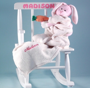 Little Girl's Personalized Rocking Chair Set (Out of Stock)