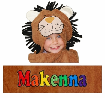 Little Lion Personalized Hooded Towels (Out of Stock)