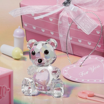 Lovable Crystal Teddy Bear With Pink Heart