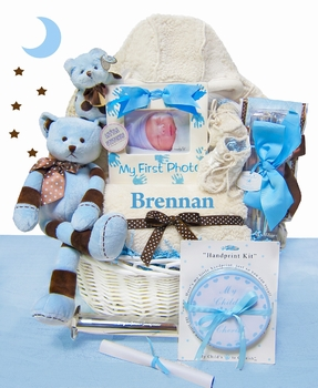 Luxurious Baby Boy Gift Basket
