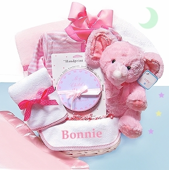 Minky Dots Personalized Basket For Girls