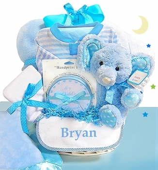 Minky Elephant Ensemble With Personalized Bib