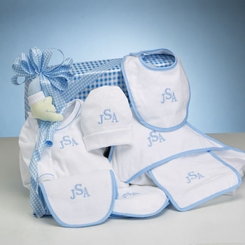 Monogrammed Baby Boy Essentials