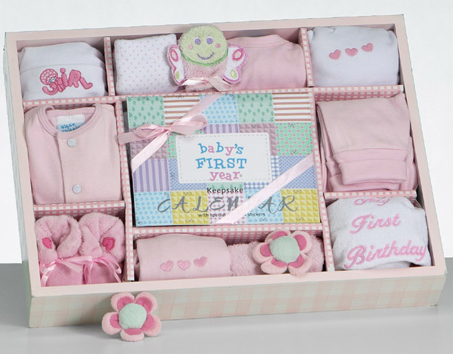 Baby Shower Gift Sets ~ New baby girl necessities first year gift set