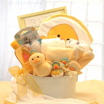 Newborn Baby Bath Basket Set