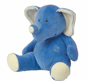 Organic Sitting Blue Elephant