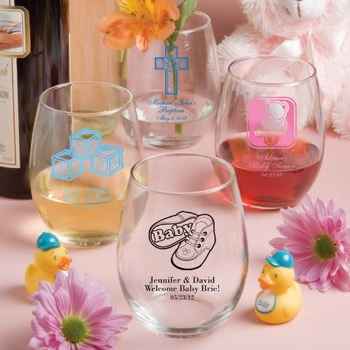 Personalized 15 oz. Stemless Wine Glasses