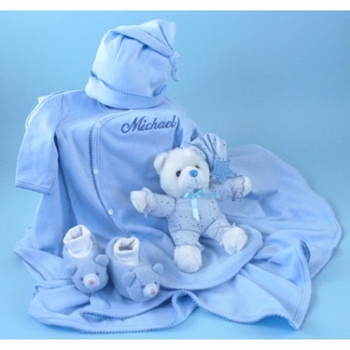 Personalized Baby Boy Nap Time Layette Set