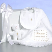 Baby christening baptism gifts simplyuniquebabygifts personalized baby christening gift set negle Image collections