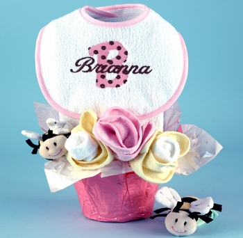 Personalized Baby Girl Flower Pot