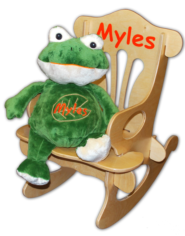 Personalized Baby Rocking Chair And Plush Frog  sc 1 st  Simply Unique Baby Gifts & Personalized Baby Rocking Chair And Plush Frog Set ...