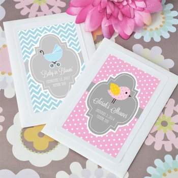 Personalized Baby Themed Flower Seed Packs