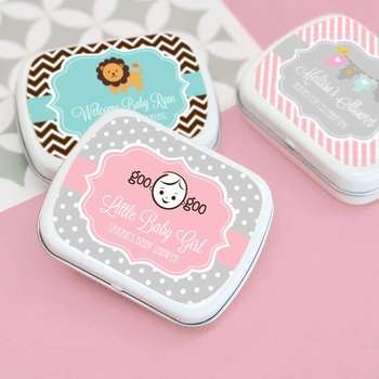 Personalized Baby Themed Mint Tins