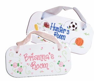 Personalized Baby Wall Plaque (Boy And Girl Designs)