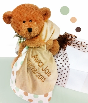 Personalized Bear & Blanket Set