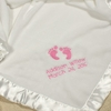 Baby Girl Personalized Fleece Blanket