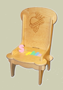 Personalized Children Chairs Princess or Butterfly