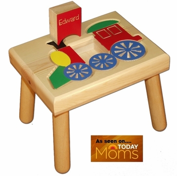Personalized Choo-Choo Puzzle Step Stool