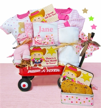 Personalized Cowgirl Baby Wagon
