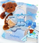 Baby gift baskets austin texas simplyuniquebabygifts free personalized elegant beginnings basket for a boy negle Gallery