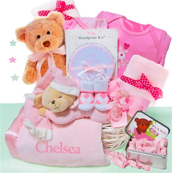 elegant beginnings luxury personalized baby girl gift basket freee