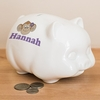 Personalized Girl's Ceramic Piggy Bank