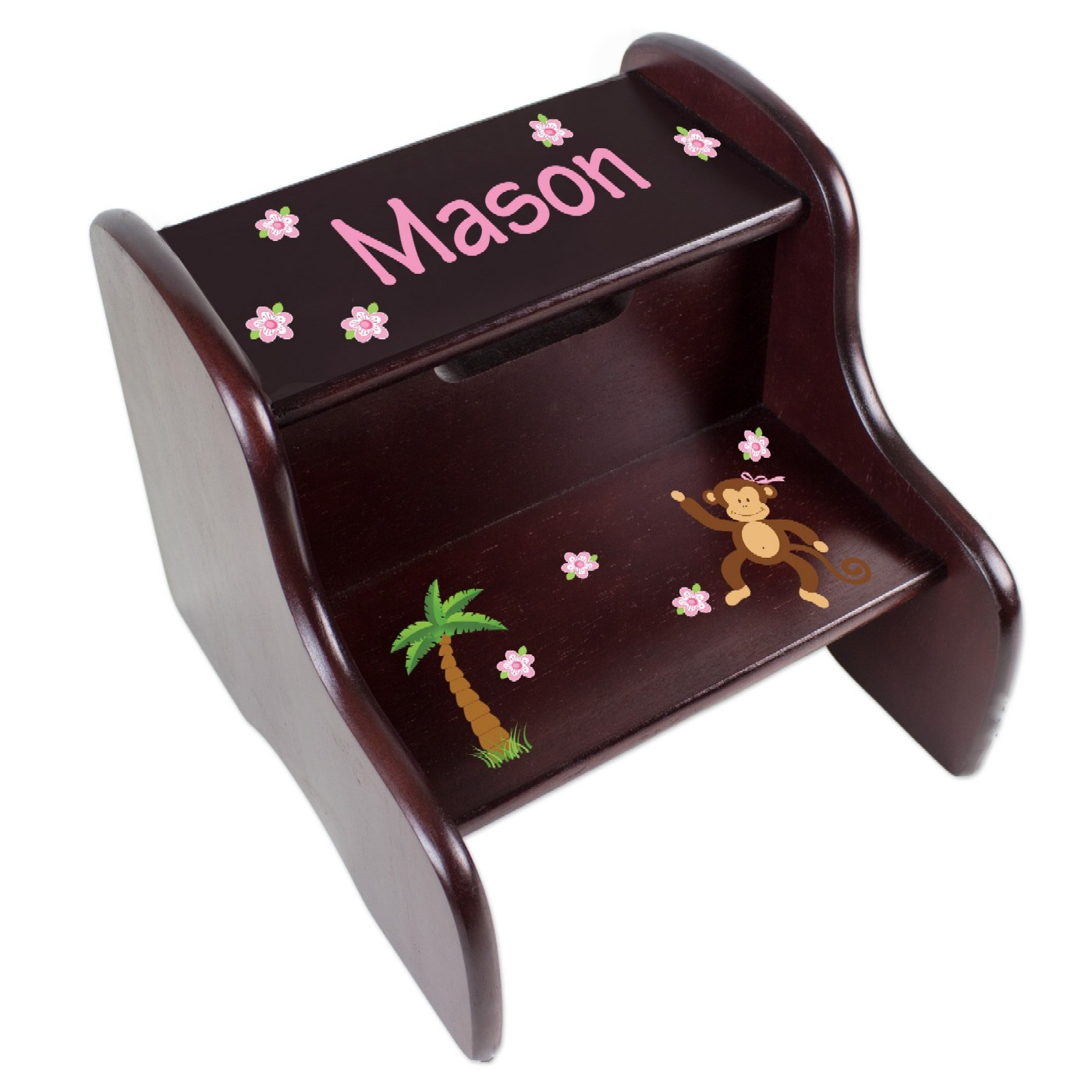 Magnificent Personalized Imprinted Wooden Step Stools For Kids Customarchery Wood Chair Design Ideas Customarcherynet
