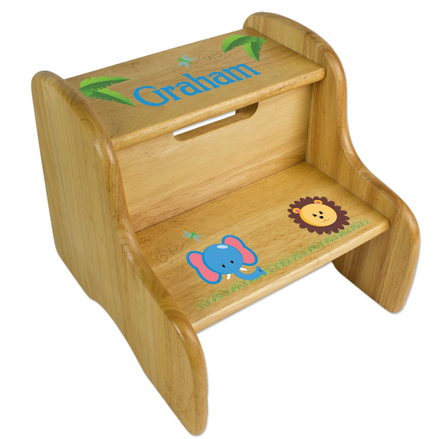 Baby step stool personalized with name