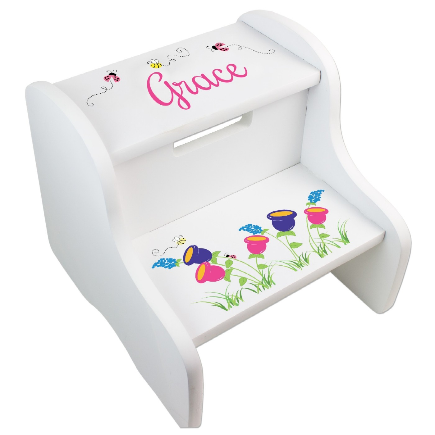 Personalized Imprinted Wooden Stools For Kids | SimplyUniqueBabyGifts.com  sc 1 st  Simply Unique Baby Gifts : wooden step stool for kids personalized - islam-shia.org