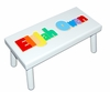 Personalized Large Painted Name Stool (White or Black)
