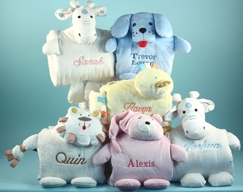 Personalized Little Animal Blankies