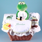 Personalized Little Froggy Basket