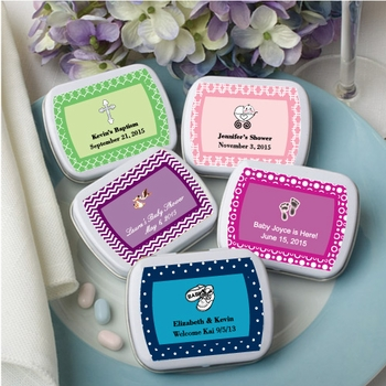 Personalized Metal Mint Boxes Favors