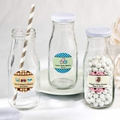 Personalized Mini Milk Bottles