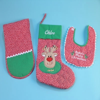 Personalized Reindeer Stocking Set